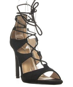 b4e907d653f Delicious Women s Mazie Lace Up Cage Gladiator Block Heel Dress Sandal      You can find out more details at the link of the image.
