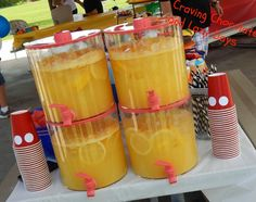The best lemonade ever!  This is super easy to make and is supper tasty.  This would make for an awesome lemonade stand drink! 1 cup Countrytime Lemonade mix 2 cups cold water 1 can (46 oz) of chilled pineapple juice 2 cans chilled Sprite