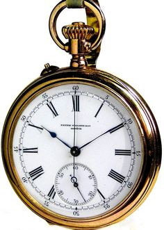 Antique Solid Gold Swiss Patek Phillippe Gold Chronograph Pocket Watch 25 Jewels Ca 1887 Old Pocket Watches, Pocket Watch Antique, Patek Philippe, Railroad Pocket Watch, Skeleton Watches, Timex Watches, Amazing Watches, Beautiful Watches, Vintage Handbags