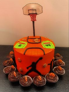 Basketball theme cake#chocolatecake#buttercream frosting Cake Chocolate, Buttercream Frosting, Themed Cakes, Basketball, Desserts, Food, Decor, Chicolate Cake, Theme Cakes