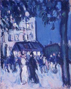 John Duncan Fergusson - Street at Night (1907)
