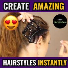 Isn't this magic hair comb Amazing? Isn't this magic hair comb Amazing? Curly Hair Styles, Natural Hair Styles, Hair Upstyles, Magic Hair, Diy Hair Accessories, Hair Videos, Hair Hacks, Braided Hairstyles, Hair Inspiration