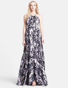 Parker Mini Grady Print Silk Maxi Dress