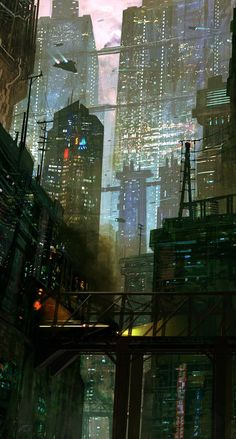 New science fiction illustration cityscapes Ideas Arte Cyberpunk, Cyberpunk City, Ville Cyberpunk, Futuristic City, Cyberpunk Tattoo, Cyberpunk 2077, Cyberpunk Fashion, Future City, Fantasy Landscape