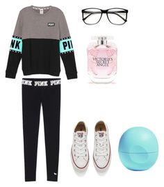 """""""Pink"""" by lindsey-30 on Polyvore featuring beauty, Converse, Victoria's Secret and Eos"""