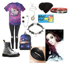 """Untitled #6"" by karmaakbane on Polyvore featuring Topshop, Disney, Dr. Martens, Nintendo and Marvel"