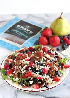 Quinoa and Berry Salad with Fresh  Pear Dressing | The Hopeless Housewife