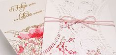Convite de casamento Modelo Minha Vida Papel e Estilo ♥♥