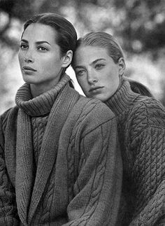 Elaine Irwin and Christy Turlington for C.Klein