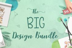 Royalty Free Commercial Use graphics and Fonts for cheap! Big Design, Free Design, Graphic Design, Ocean Font, Commercial Fonts, Element Symbols, Hand Drawn Fonts, All Fonts, School Design