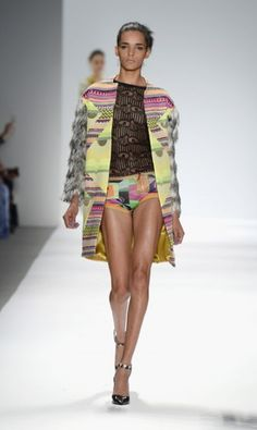 Color filled runway show by #CustoBarcelona at Spring 2014 #MBFW