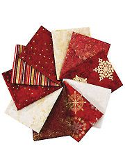 Fabric - Stonehenge Starry Night Red Fat Quarters - 10/pkg. - #276362