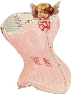 Pretty Victorian Corset Advertisement.