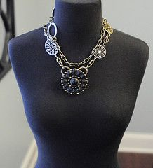 Francesca necklace doubled with the Francy enhancer/pin #premierdesigns