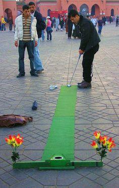 Mini golf in Marrakech
