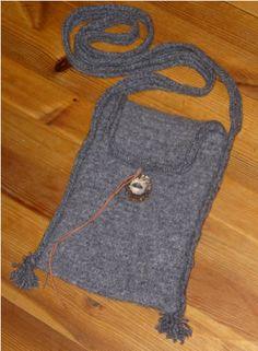 Nadelbinden Tasche / Naalbinding Bag