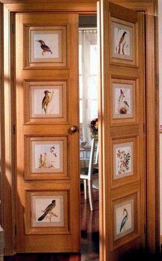 Trendy door decorations for home hidden rooms Diy Wand, Art Deco Furniture, Painted Furniture, Patio Door Coverings, Hidden Rooms, Secret Rooms, Door Makeover, Interior Exterior, Door Design