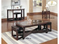 Shop for Homelegance Round End Table, 3219-04, and other Living Room Tables at Al's Furniture in North Hollywood, San Fernando Valley, West Los Angeles, Los Angeles, Orange County, Ventura County, CA. Perfect for apartment and smaller living spaces, this stylish, espresso finished, contemporary occasional group features clean lines, a glass top and wedge seating that fits perfectly under the tabletop for those who desire a streamlined look.