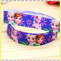 5/8'' Free shipping Fold Over Elastic FOE cartoon printed headband headwear hair band diy decoration wholesale OEM B940