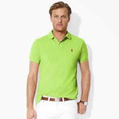 Polo Ralph Lauren Men's Custom Stretch-Mesh Polo Marathon Green #Polo #Ralph Lauren