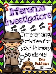 "Making inferences is an important skill for readers of all ages.  This unit will help your primary students be able to practice reading and writing strategies, specifically focused on how to find clues through inferencing!  It includes:  ""Inferencing"" poster for your reading area ""Top Secret"" folder idea to organize student work ""What is it?"" whole group inference sheets ""Secret Squares"" student clue craftivity ""Take a Mental Picture"" writing activity ""Finding Clues and Takin..."