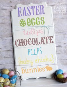 The Happy Scraps: DIY Stenciled Easter Sign