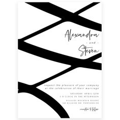 Minimalist Wedding Invitation | Forever Your Prints