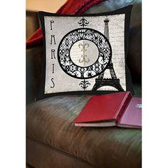 Thumbprintz Paris Circle Eiffel Tower Indoor Pillow 20 x 20 $31 26 x 26 $39
