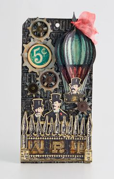 Metal Foil Steampunk Tag by Candy Colwell