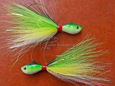 Ultraminow Hunter Bucktail Jig 42g Verde Amarillo - http://hunter.shost.ca/2014/07/01/ultraminow-hunter-bucktail-jig-42g-verde-amarillo/