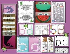 """b & d Letter Reversal Activities: b & d letter craftivities.  LOVE the """"ransome"""" note craft. The frog eating only b flies is also really cute."""