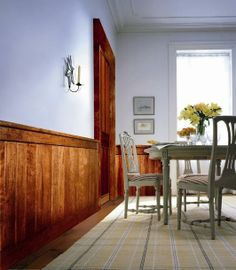 for the dining room (http://www.mantelcraft.com/wainscot-planking-and-beadboard/classic-rustic-distressed-maple-wainscoting/classic-rustic-distressed-maple-wainscoting-4-foot/)