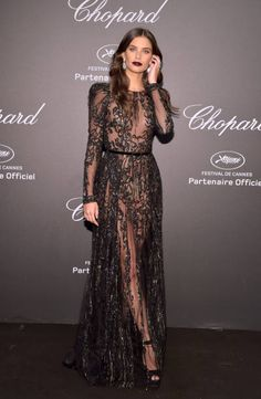 """Sara Sampaio attends the Chopard """"SPACE Party"""" hosted by Chopard's copresident Caroline Scheufele and Rihanna at Port Canto on May 19 in Cannes France"""