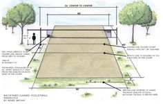 Volleyball court size Drawing