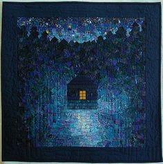 """""""Blue Night"""" by Eldrid Røyset Førde at Kameleon Quilt"""
