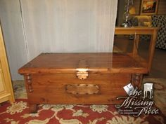 "Small cedar lined chest in a medium finish. Perfect little accent for a room in need of extra storage space. Would look ideal in a bedroom. Measures 34""long x 18""deep x 15""high. Sweet piece! Arrived: Thursday January 5th, 2017"