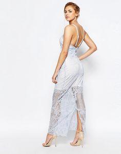 Image 4 ofBoohoo Boutique Lace Panelled Maxi Dress