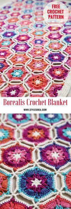 Borealis Crochet Blanket - #crochet #blanket #freepattern