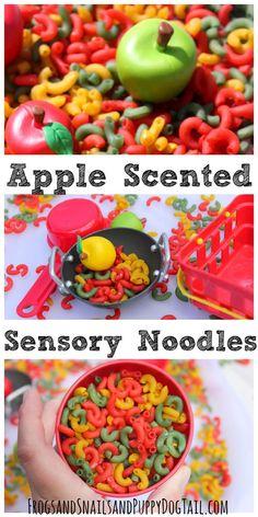 Apple Scented Sensory Pasta Noodles - FSPDT