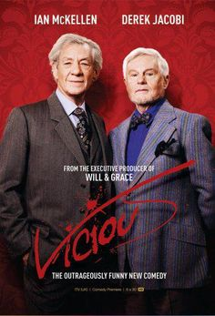 Vicious (TV Series ) with Sir Ian McKellen and Sir Derek Jacobi British Tv Comedies, New Comedies, British Comedy, British Actors, Sir Ian Mckellen, Tv Series 2013, Funny Tv Series, Bbc Tv Shows, Funny New