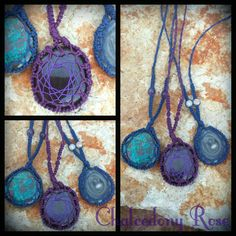 Chrysocolla, Hypersthene, or Chalcedoby Rose necklaces $40 each plus post available from www.facebook.com/chalcedonyrose