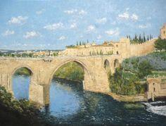 Original Cities Painting by Ruben De Luis Oil On Canvas, Canvas Art, Original Art, Original Paintings, Toledo Spain, San Martin, Impressionism Art, City Style, Buy Art