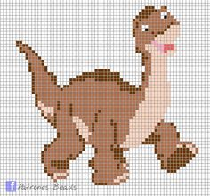 Little Foot (The Land Before Time) perler pattern - Patrones Beads / Plantillas para Hama