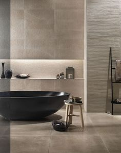modern beige bathroo