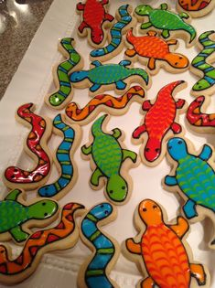 Cookies for a Reptile Birthday Party