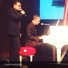"""Bono from U2 with Chris Martin from Coldplay in New York City on November 23, 2013. #RED  #u2NewsActualite #u2NewsActualitePinterest #u2 #bono #PaulHewson #red #picture #2013 #new #news #actualite      by  http://instagram.com/sabrinadupre  """"#bono and #chrismartin of @Patti Gable surprise performance! I love my seat. #redatsothebys""""  http://instagram.com/p/hFr-IVuNee/#"""
