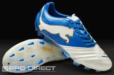 Puma Football Boots - Puma PowerCat 1.12 FG - Firm Ground - Soccer Cleats - White-Puma Royal-Team Gold