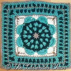 Sunflower Mandala square...The Lavender Chair... Free pattern!