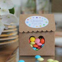 La boite à dragée maisonnette kraft - Les Petits Cadeaux