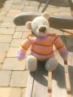 Gehäkeltes Teddybär aus Schafwolle! von Perzl-Puppen auf DaWanda.com
